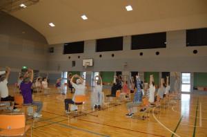 体育室での介護予防体操講座